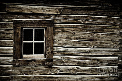 Poster featuring the photograph Old Log Cabin by Brad Allen Fine Art