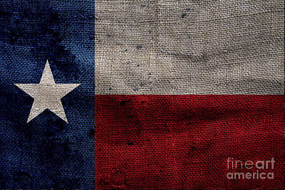 Old Lone Star Flag Poster by Jon Neidert