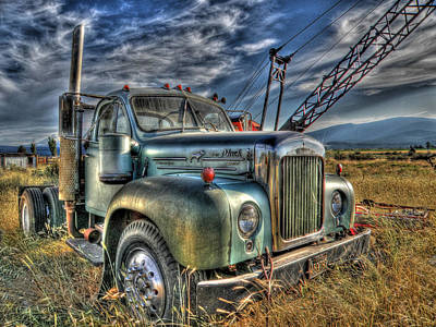 Old Mack Truck Poster by Peter Schumacher