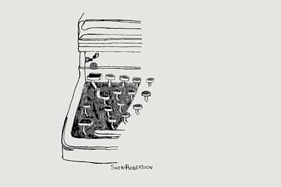 Old Manual Typewriter Poster