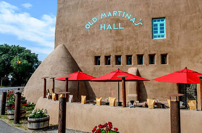 Old Martina's Hall - Taos, New Mexico Poster