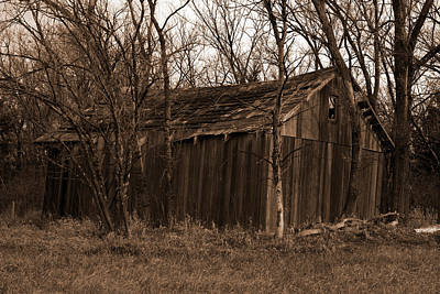 Old Maydale Barn - Sepia Tone Poster