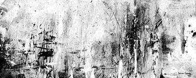 Old Memories - Balck And White Abstract Art By Laura Gomez - Strip-long Size Poster by Laura  Gomez