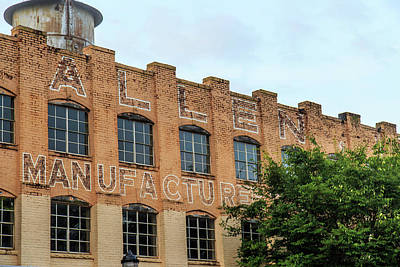 Poster featuring the photograph Old Mill Building In Buford by Doug Camara