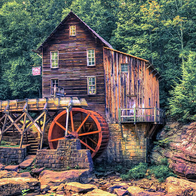Old Mill In Beckley West Virginia Poster by Gregory Ballos