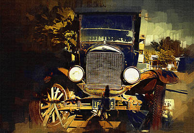 Old Model T Poster by Holly Ethan