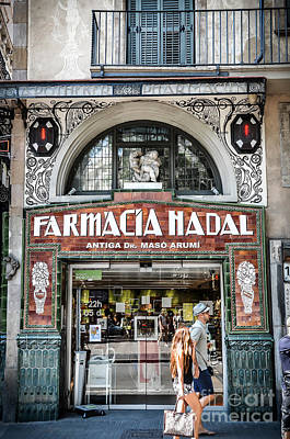 Old Modernist Pharmacy In Barcelona Poster by RicardMN Photography