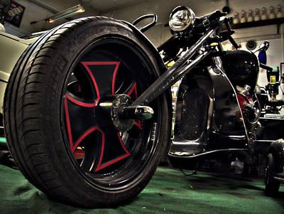 Old Motorbike Poster