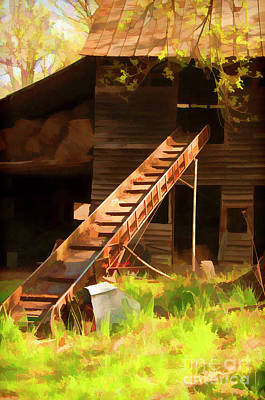 Poster featuring the photograph Old North Carolina Barn And Rusty Equipment   by Wilma Birdwell