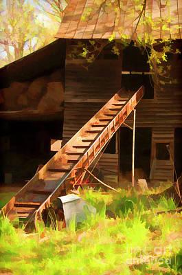 Old North Carolina Barn And Rusty Equipment   Poster by Wilma Birdwell