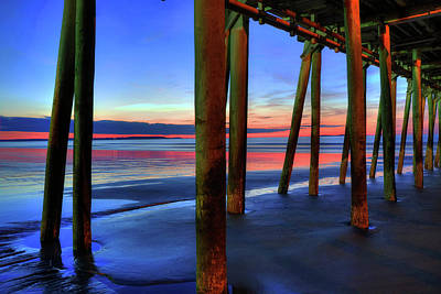Poster featuring the photograph Old Orchard Beach Pier -maine Coastal Art by Joann Vitali