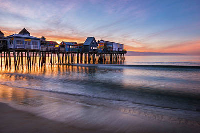 Poster featuring the photograph Old Orchard Beach by Expressive Landscapes Fine Art Photography by Thom