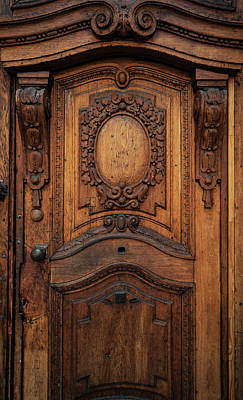 Old Ornamented Wooden Doors Poster by Jaroslaw Blaminsky