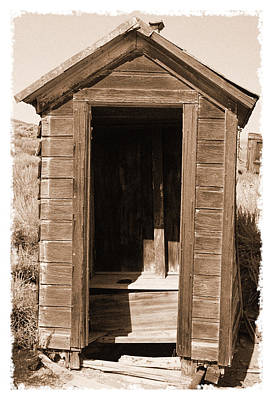 Old Outhouse In Bodie Ghost Town California Poster by George Oze