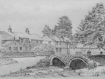 Old Packhorse Bridge Wycoller Poster