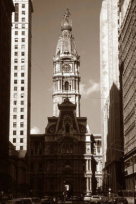Old Philadelphia City Hall - Vintage Photo Art Print Poster by Art America Gallery Peter Potter