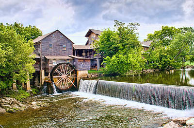 Old Pigeon Forge Mill Poster by Scott Hansen