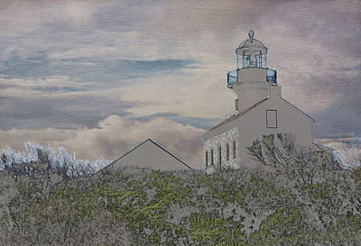 Old Point Loma Lighthouse Poster by Linda Dunn