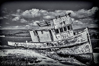 Old Point Reyes Black And White Poster