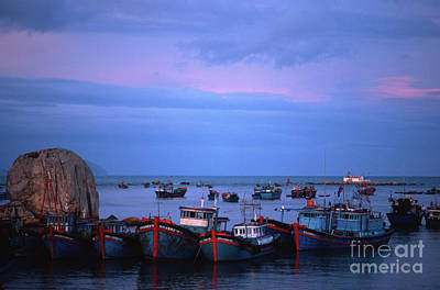 Old Port Of Nha Trang In Vietnam Poster