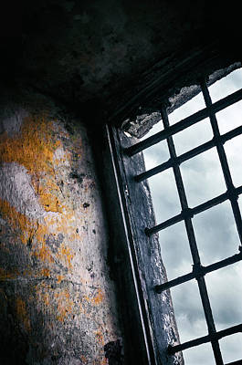 Old Prison Cell Window Poster