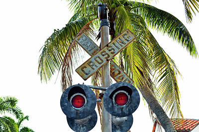 Old Railroad Crossing Sign Poster