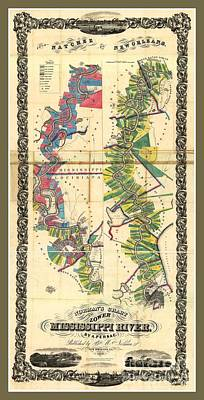 Old Rare Mississippi Map Poster by Pd