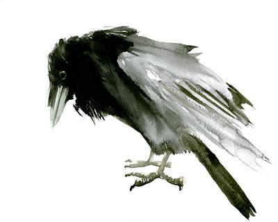 Old Raven Poster by Suren Nersisyan