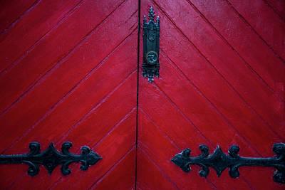 Old Red Door Poster