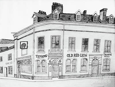 Old Red Lion Poster by Stephen Brooks