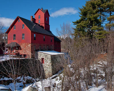 Poster featuring the photograph Old Red Mill - Jericho, Vt. by Joann Vitali