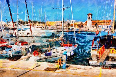 Old Rhodes Market View Poster by Magomed Magomedagaev