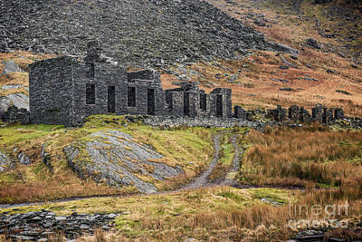 Old Ruin At Cwmorthin Poster by Adrian Evans