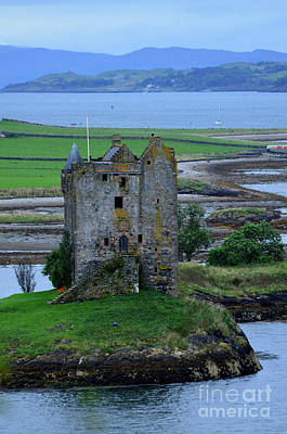Old Ruins Of Castle Stalker In Scotland Poster by DejaVu Designs