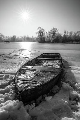 Poster featuring the photograph Old Rusty Boat by Davorin Mance