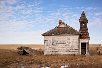 Old Schoolhouse In North Dakota Poster by Jeff Swan