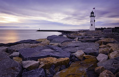 Old Scituate Light At Sunrise Poster