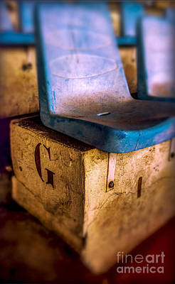 Old Seats Numbers Poster by Bernard Jaubert