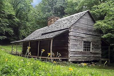 Old Settlers Cabin Smoky Mountains National Park Poster