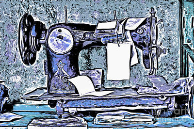 Old Sewing Machine Poster by Michal Boubin