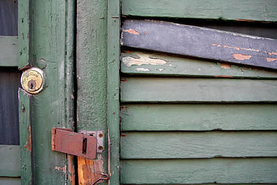 Poster featuring the photograph Old Shutters French Quarter by KG Thienemann