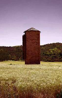 Old Silo In A Wheat Field Poster by Jeff Swan