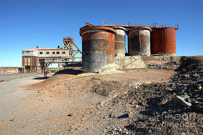 Poster featuring the photograph Old Silver Mine Broken Hill by Bill Robinson