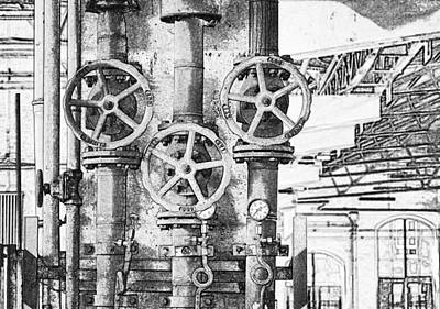 Old Steam Pipe Poster