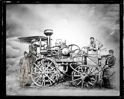 Old Steam Tractor Poster