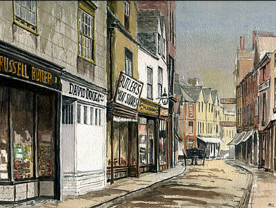 Old St.ebbes Oxford Poster by Mike Lester