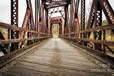 Old Steel Train Bridge Poster