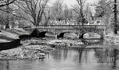 Old Stone Bridge In Black And White Poster