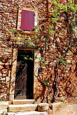Old Stone House In Provence Poster