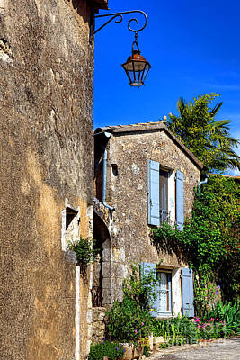 Old Stone Houses In Provence Poster